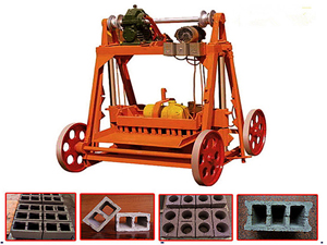 QMY4-45 egg layer mobile block machine,concrete cement block building construction machinery