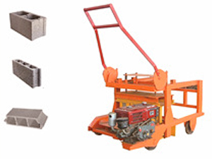 QMD4-45  diesel engine egg layer movable block machine,hollow cement concrete block making machine